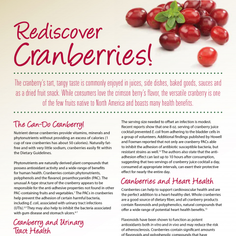 Rediscover the Health Benefits of Cranberries!