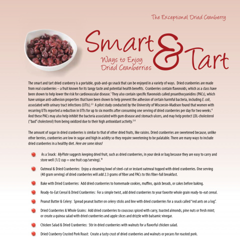 Smart and Tart: Ways to Enjoy Dried Cranberries