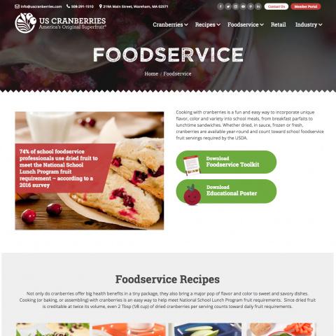 US Cranberries Foodservice