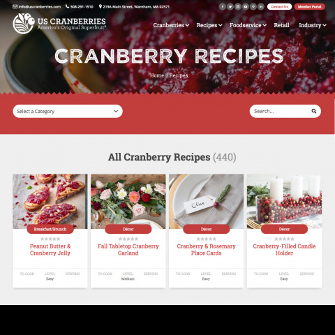 US Cranberries Recipes