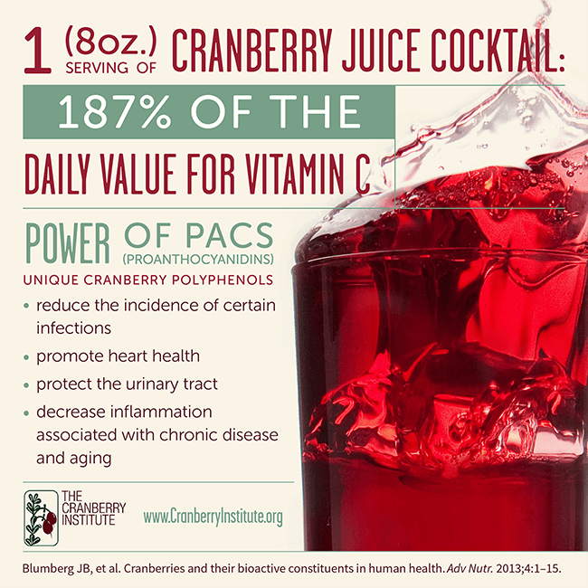 Cranberry Juicy Cocktail Infographic